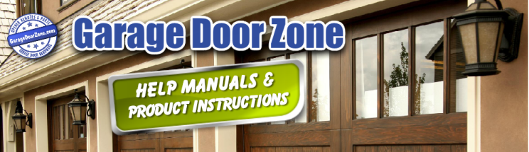 Garage door zone support manuals remotes accessories for Door zone llc